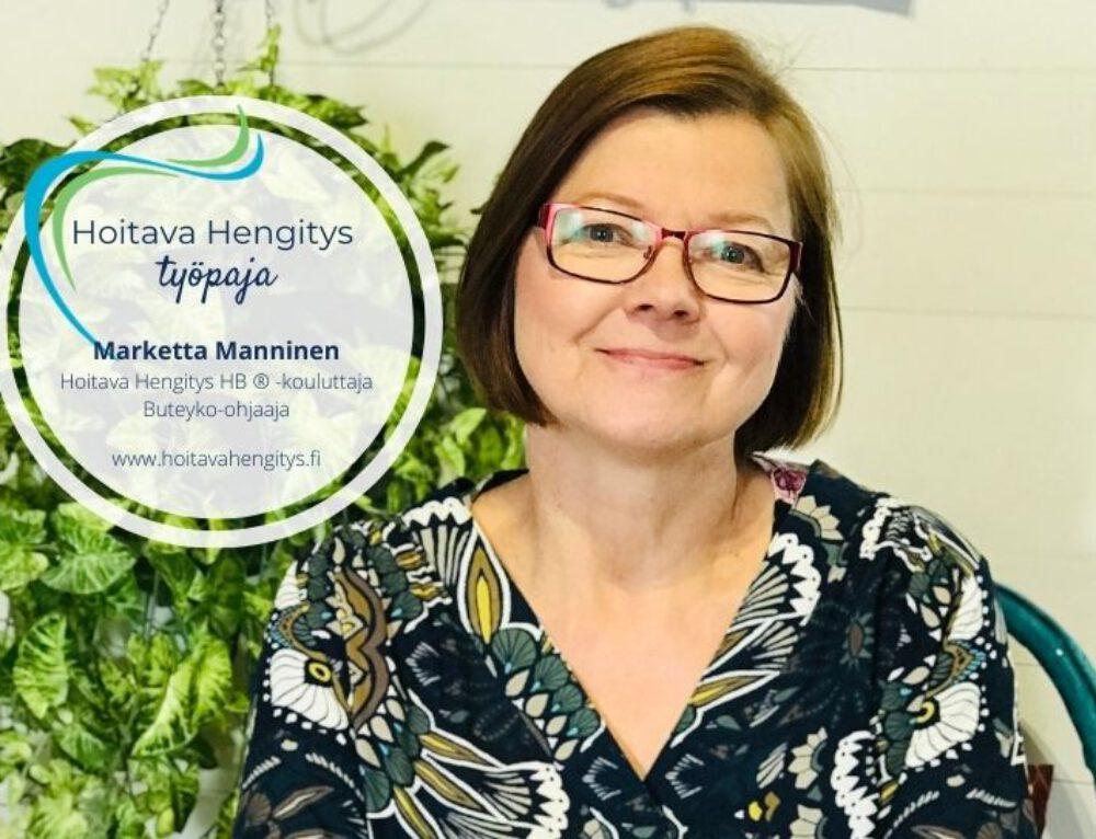 Hoitava Hengitys työpaja HELSINGISSÄ 3.10.2020